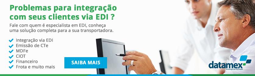Contem com um sistema TMS que integra via EDI