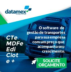 Conheça o TMS Datamex, com emissão de CT-e, MDF-e, CIOT, EDI, Financeiro, Frota e muito mais!